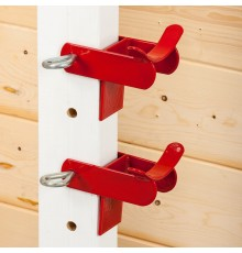 A lightweight model which suits uprights up to 6cm thick. Red STUBBYFINE coated. Supplied as a pa...