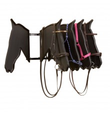 Fantastic showroom display for bridles and headcollars, giving an uncluttered view of one side at...