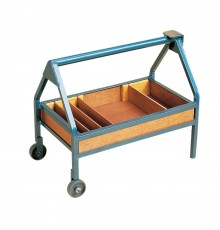 A handy mobile work aid combining tool and materials storage with light duty anvil. Swedish inspi...