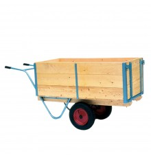 Superb large capacity handcart robustly constructed from seasoned softwood with steel reinforceme...
