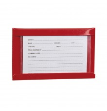 Smartly displays horse details on printed card protected by plastic wallet. Holder is pre-galvani...