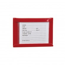 Smaller than S26 Large Stud Card Holder, with card size reduced to 10cm x 8cm.