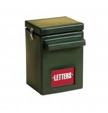 Very large capacity, tough and durable dark Green STUBBYTHENE letterbox designed for wall or pill...