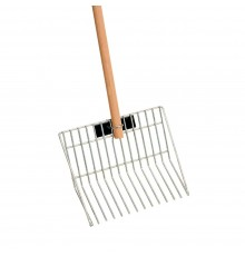 Strong yet lightweight shavings fork. Hot dip galvanised steel. 120cm wooden handle, usually supp...