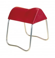 Our flexi-feel saddle horse has some 'give' making it ideal for trying saddles. Maroon STUBBY...