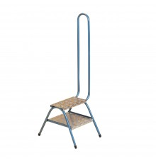 For stable, tack room and shop use these steps are strong yet lightweight. Blue enamelled steel f...