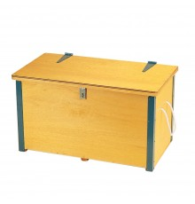 Marvellous traditional wooden chest for storage of rugs and blankets. Rugged plywood construction...