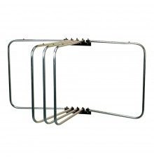 Our ultimate rug rack with five swivelling arms mounted on two STUBBYFINE coated wall brackets. C...