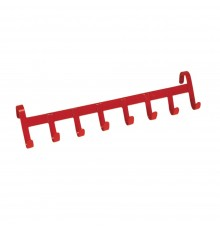 An 8 hooked version of our successful S94 Handy Hanger. Red or Black STUBBYFINE coated steel cons...