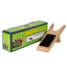 A very attractive varnished hardwood product, beautifully handmade with non-slip rubber tread. Ve...