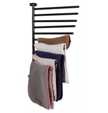 Fantastic for display, storage and drying 10 numnahs/saddle pads. It folds flat to wall when not ...