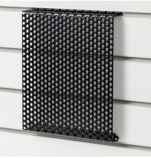 Easily convert favourite fittings to modern slatwall. The design allows space behind for bolts an...