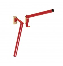 Similar to S17P Fixed Pole Saddle Rack, but folds down when not in use. Pole remains captive in t...