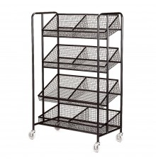 With cavernous capacity, this smart display trolley is strongly constructed in steel and mounted ...
