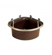 Fitted with a protective steel angle frame, this manger is bow fronted and comes complete with an...