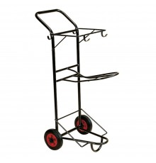 Very convenient tack transporter with saddle rack and bridle hooks. Base takes S57 Tack Box or ot...