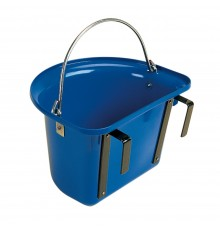 The obvious place for a grooming bucket is hanging on the stable door at a convenient height for ...