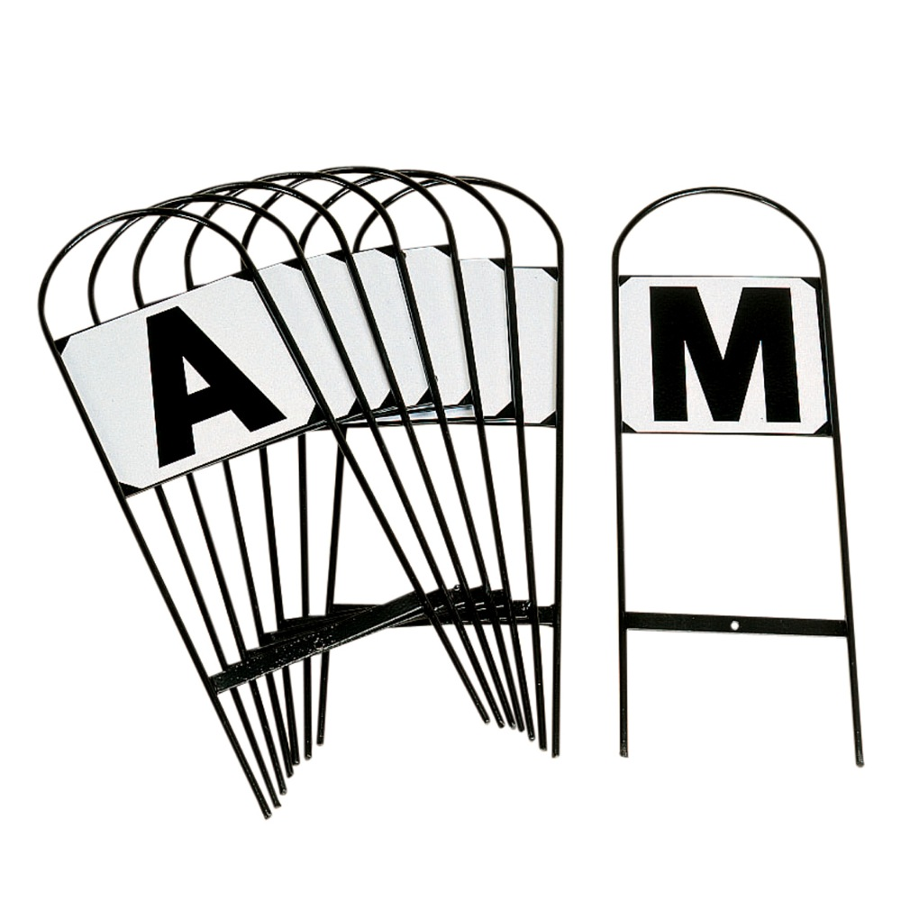 Letters x 12 A B C E F H K M R S V P NEW SELF ADHESIVE Dressage Arena Markers
