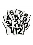 Screw On Steel Plates - Numbers 1-25, 3 Letters A & 3 Letters B