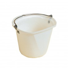 Shaped to aid wall hanging and to avoid slopping down your leg when carried full of water. The re...
