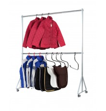 You decide whether this is double rail for short top wear/folded trousers or single rail for long...